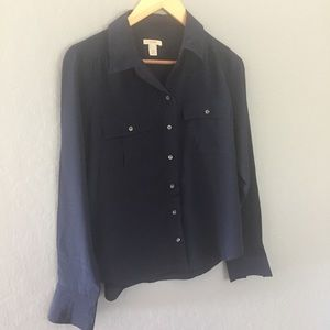 J Crew silk blouse